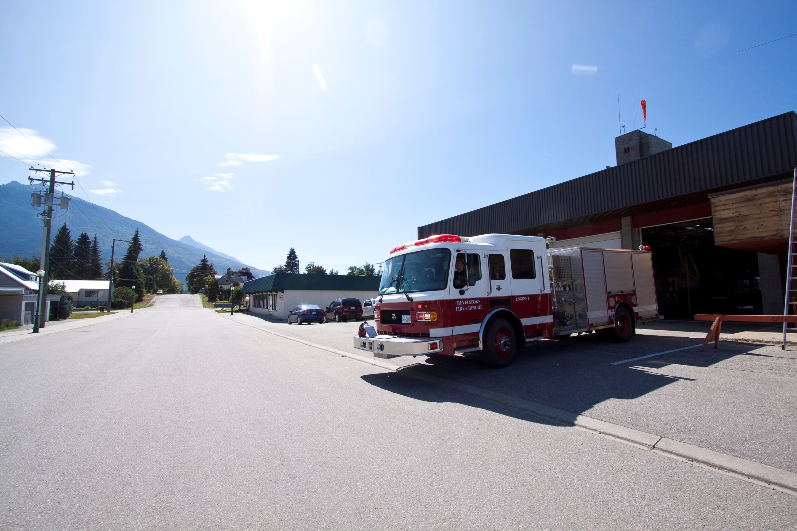 Fire Hall and Truck